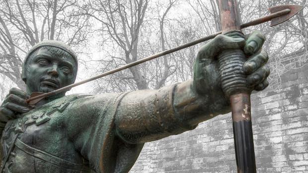 Robin Hood Statue, Nottingham by Arran Bee